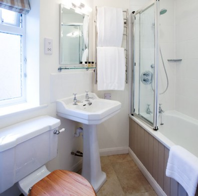 Luxury bathroom interior at boutique hotel The Hideaway