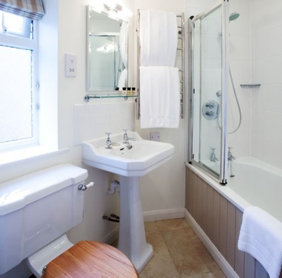 En-suite bathroom interior at boutique Windermere hotel