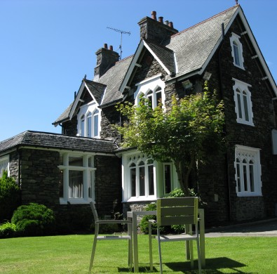 Exterior of the Hideaway at Windermere boutique Lake District hotel