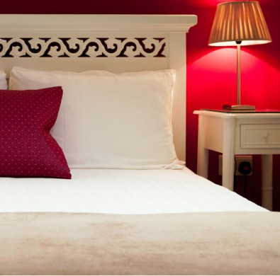 Bedroom at Lake District luxury hotel The Hideaway at Windermere