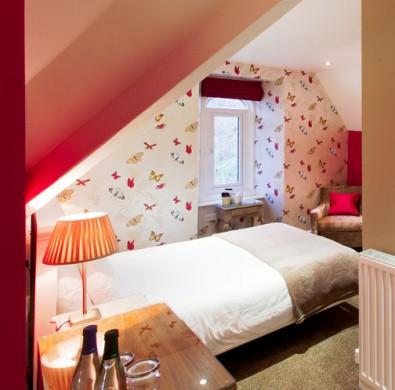 Interior bedroom at boutique Windermere hotel